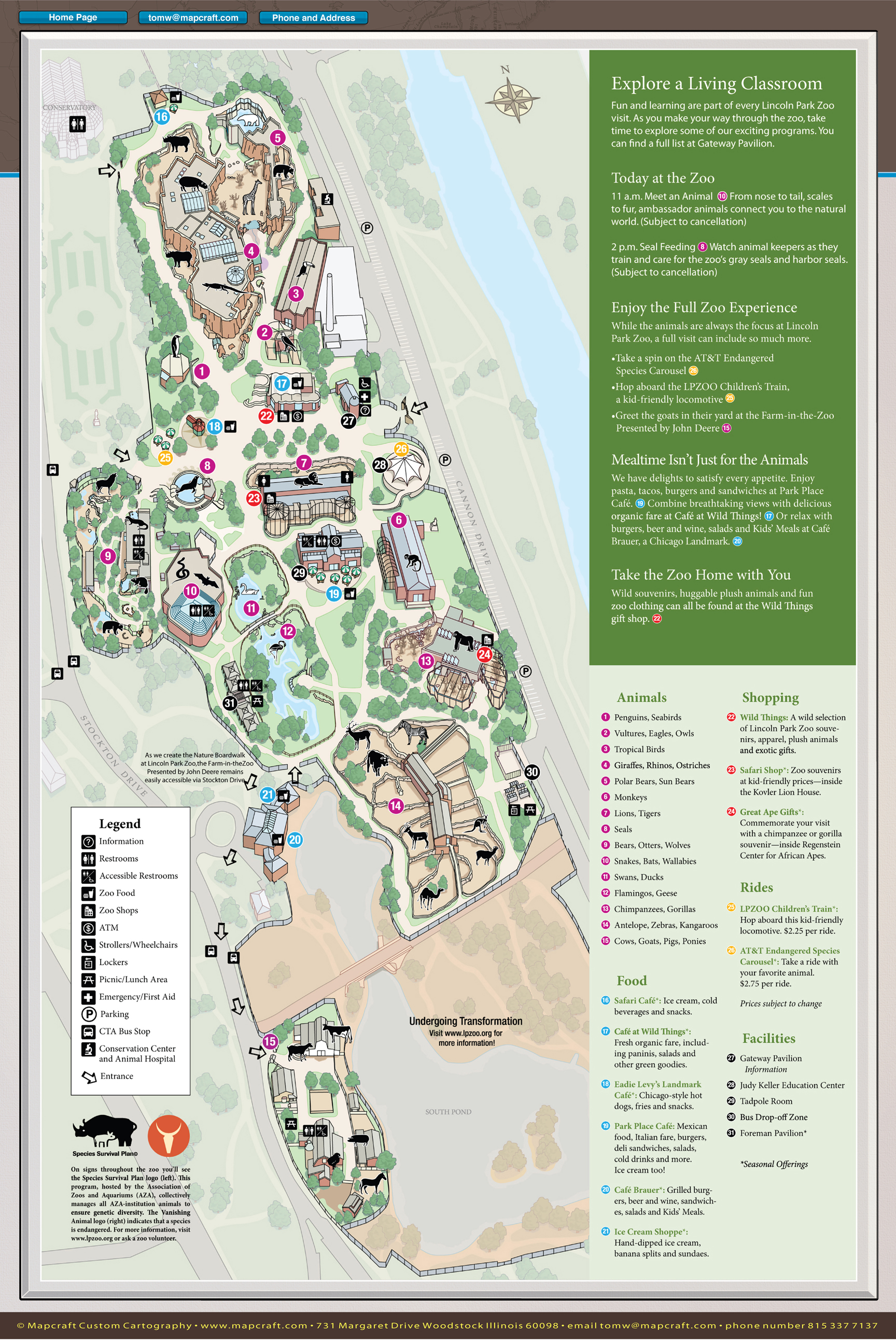 Lincoln Park Zoo Chicago Map Chicago Map